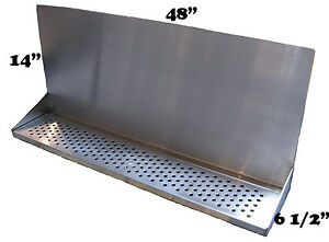 Draft Beer Tower Wall Mt Drip Tray 48 L W s s Grill Drain Dtwm48ss
