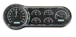 Dakota Digital 1953 54 Chevy Car Analog Gauges Black Alloy White Vhx 53c K W