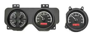 Dakota Digital 1970 72 Pontiac Gto Analog Gauges Black Alloy Red Vhx 70p Gto K R