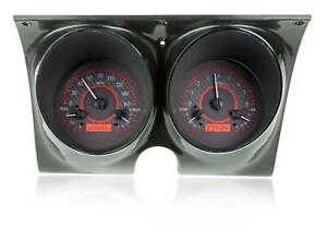 Dakota Digital 67 68 Chevy Camaro Analog Gauges Carbon Red Vhx 67c Cam C R