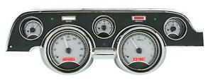 Dakota Digital 67 68 Ford Mustang Analog Gauges Silver Alloy Red Vhx 67f Mus S R