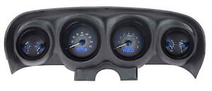 Dakota Digital 69 70 Ford Mustang Analog Gauges Carbon Blue Vhx 69f Mus C B