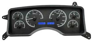 Dakota Digital 90 93 Ford Mustang Analog Gauges Black Alloy Blue Vhx 90f Mus K B