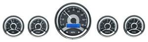 Dakota Digital Round Universal Analog Gauges Black Alloy Blue Vhx 1050 k b