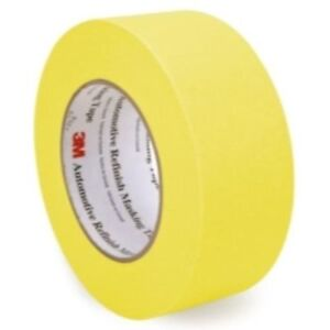 3m 06656 Crepe Paper Automotive Refinish Masking Tape 2 Inch 24 Pack Yellow