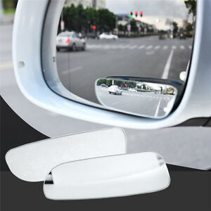 2x Universal Car Auto 360 Wide Angle Convex Rear Side View Blind Spot Mirror Tr