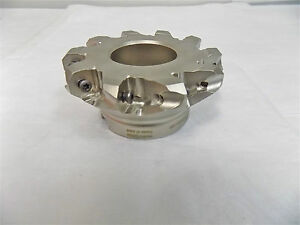 Hertel Indexable Angle Face Mill Cutter 4 Cut Dia 1 25 Arbor10fl 45717287