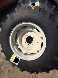 Two 14 9x24 John Deere Ford 8 Ply Easy Repair Tractor Tires W wheels Centers