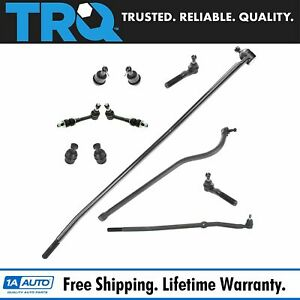 11 Piece Kit Ball Joint Tie Rod Track Sway Bar Link Lh Rh For Ram 1500 2500 4wd
