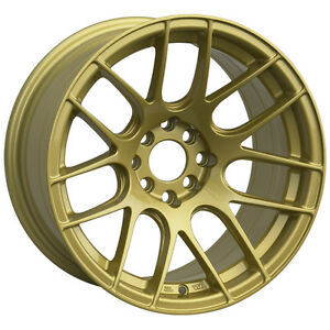 Xxr 530 17x7 Rims 4x100 114 3 35 Gold Wheels Set Of 4