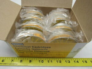 Msa 464046 Gmc Comfo And Ultra Twin Respirator Chemical Cartridge Lot Of 8