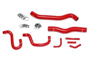 Hps Red Silicone Radiator Heater Hose Kit Coolant Oem Replacement 57 1518 Red