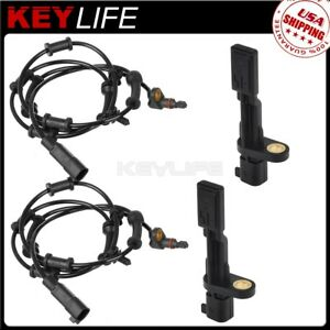 4pcs Abs Wheel Speed Sensor Front Rear For 07 17 Jeep Wrangler 3 8l 68003281ac