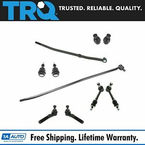 10 Piece Kit Ball Joint Tie Rod Sway Bar Link Lh Rh For 98 99 Ram 1500 2500 4wd