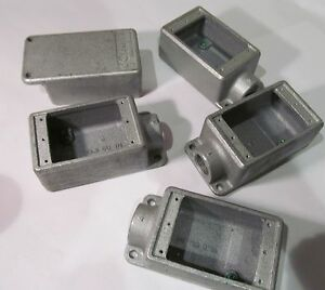 5 pack Eaton Condulet Fs2 Single Gang Cast Electrical Outlet Box 3 4