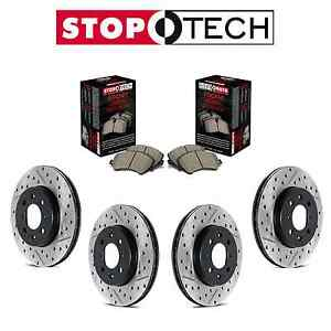 For Ford Mustang Full Front And Rear Disc Brake Rotors Sport Pads Stoptech Kit