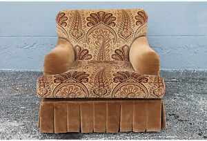 Mid Century Paisley Lounge Chair By Baker