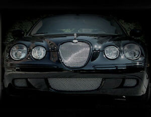 Jaguar S Type 3 Pcs Lower Bumper Mesh Grille 2008 Models Bright Stainless