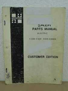 Original Hyster Electric E30b E40b E50b E60bs Forklift Parts Catalog List Manual