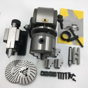 Bs 0 Precision Semi Universal Dividing Head Tailstock Spindle W 5 3 Jaw Chuck