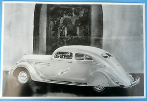 12 By 18 Black White Picture 1936 Chrysler Imperial Airflow 2 Door
