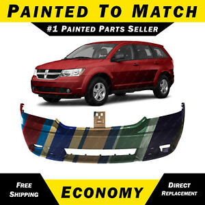 New Painted To Match Front Bumper Cover For 2009 2018 Dodge Journey W out Tow