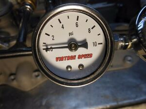 Holly Ford 94 Tri Power Hot Rod Vintage Speed Fuel Pressure Gauge 0 To10 Psi