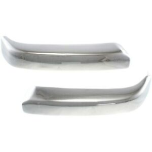 Bumper End Caps For 1998 2000 Toyota Tacoma 4wd Set Of 2 Front Chrome Steel