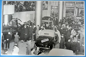 12 By 18 Black White Picture 1938 Ford Deluxe Convertible