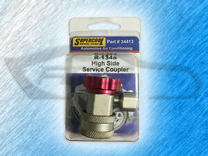 34413 Supercool R134a High Side Snap On Service Coupler Red