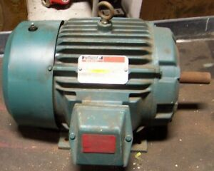 Reliance 5 Hp Electric Ac Motor 460 Vac 1765 Rpm 215 Frame 3 Phase 1 1 8 Dia