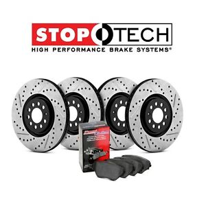 For Honda Integra Front Rear Stoptech Drilled Slotted Brake Rotors Pads Kit