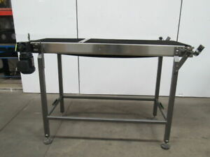 70 x 21 1 2 Stainless Steel Flat Top Power Conveyor 230 460v 50fpm 75hp Lot 1