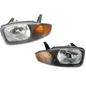 Headlights Headlamps Left Right Pair Set Fits 03 05 Chevy Cavalier