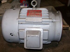 New Delco 5 Hp Electric Ac Motor 460 Vac 1755 Rpm 215c Frame 3 Phase 1 1 8 Dia