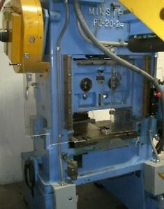 20 Ton Minster Straight Side Double Crank Press Planet Machinery Stock 4618