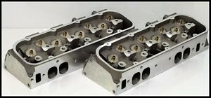 Big Block Bbc Chevy 454 496 300cc Oval Port Aluminum Heads Bare Set