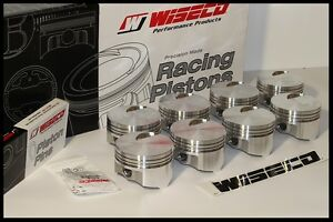 Bbc Chevy 454 Wiseco Forged Pistons Rings 4 280 Bore 030 Over Flat Top Kp430a3