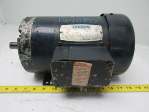 Leeson Electric C145t11fb6a 1 Hp 3ph 208 230 460v 1140rpm Electric Motor