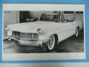 12 By 18 Black White Picture 1956 Lincoln Mark 11 Cabriolet Convertible