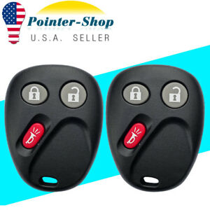 2 Key Fob Replacement For Lhj011 Chevy Keyless Entry Remote Clicker Transmitte R