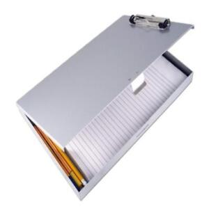 Saunders Recycled Aluminum Tuff writer Storage Clipboard Letter Size Silver 1 Ne