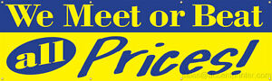 Meet Or Beat Prices Vinyl Display Banner With Grommets 3 hx10 w Full Color