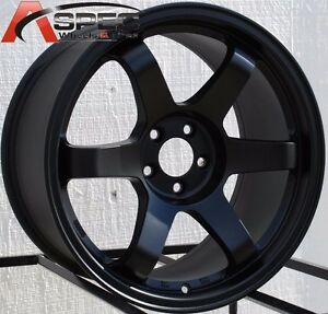 17x9 0 Rota Grid Wheels 5x100 Black Rims 42 Fits Wrx 01 02 03 04 05 06 07 08 09