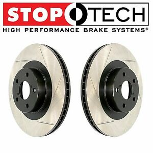 For Ford Mustang Cobra Stoptech Front Left Right Slotted Brake Rotors Pair Set
