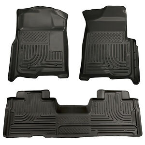 Husky Liners 98341 Weatherbeater Front Rear Floor Mats For 09 14 Ford F150 Super