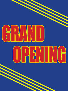 Grand Opening Retail Display Sign 18 w X 24 h Full Color