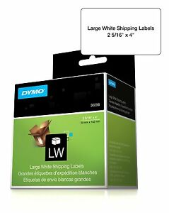 Dymo 30256 Shipping Label 2 31 Width X 4 Length 300 Roll Rectangle