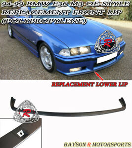Oe Style Replacement Front Bumper Lower Lip Spoiler Pp Fits 94 99 Bmw E36 M3