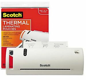 New 9 Scotch Thermal Laminator Machine With 20 Laminating Pouches 8 5 X 11